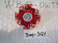 "TAKARA Beyblade Driger F ""Red Clear Ver."" ( Bey - 3QY )"